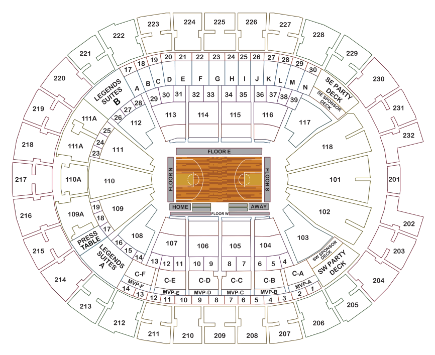 Amway Arena Seating Chart Golf Resort Austin Tx