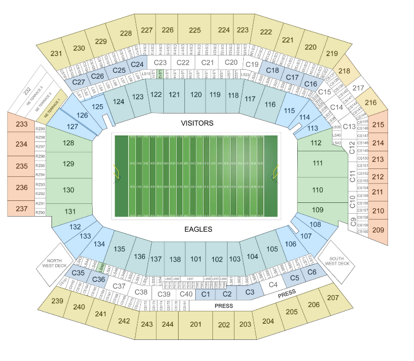 Philadelphia Eagles Tickets January 19 2014 At 5 00 Pm
