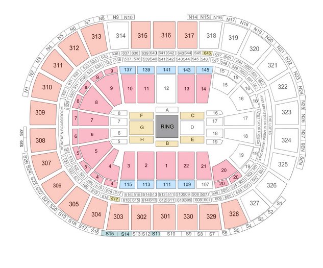 Wwe tickets june 29 2014 at 7 30 pm td garden for Td garden seating chart with seat numbers